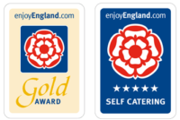 Visit England Gold Award and 5 Star Self Catering Logos