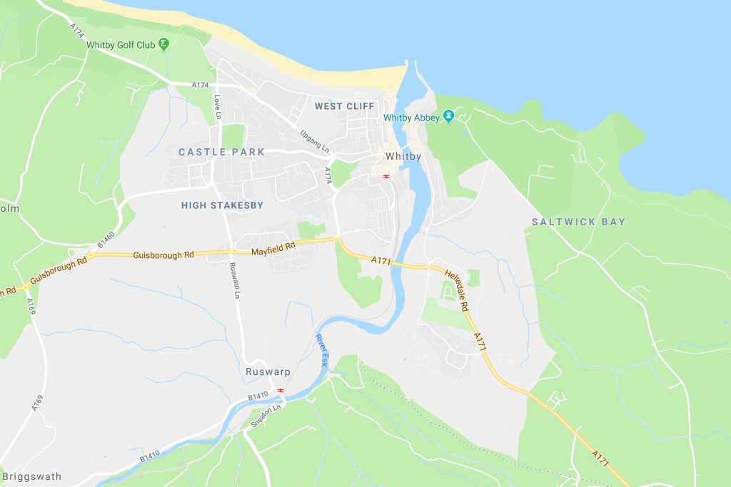 Location Map for our Self Catering Whitby Holiday Cottages in North Yorkshire