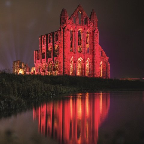 Illuminated Whitby Abbey
