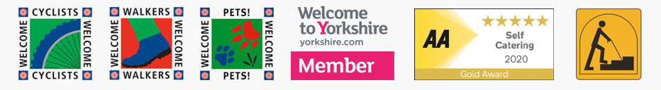 Whitby Holiday Cottage Logos for Premier Cottages and Welcome to Yorkshire Member